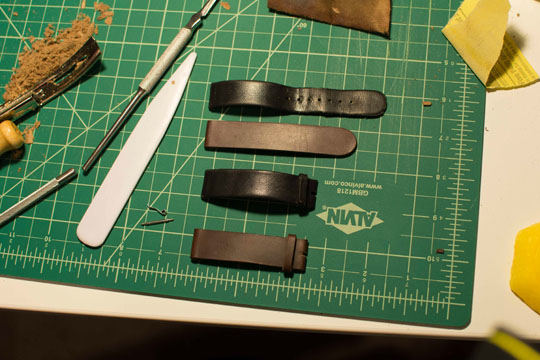 How to make a leather watch strap