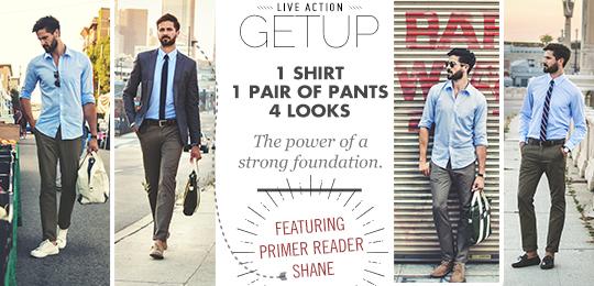 54e6a0d1 Live Action Getup: 1 Shirt, 1 Pair of Pants, 4 Looks | Primer