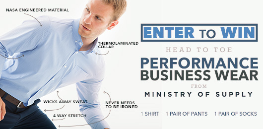 Enter to Win! Head to Toe Performance Business Wear from Ministry of Supply!