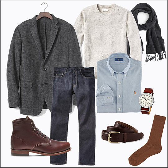 Style Essentials: The Gray Sportcoat - 5 Looks - Smart Casual
