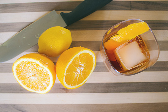 This orange is 3 months old: Use this trick to always have fruit on hand for your cocktails!