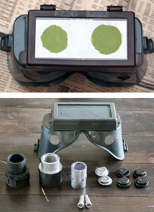 Spray painting the Hobart Ecto Goggles