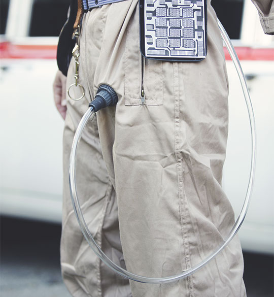 DIY Ghostbusters costume leg hose