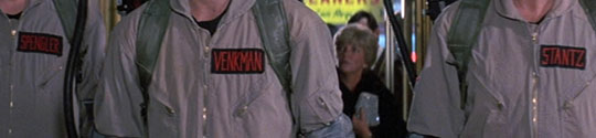 Ghostbusters name patch placement as seen in movie