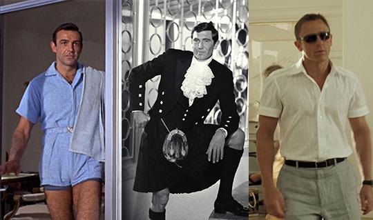 Sean Connery, George Lazenby, and Daniel Craig