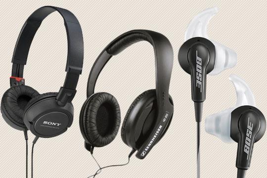 3 headphone options