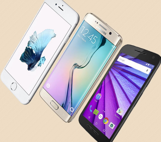 3 cellphones