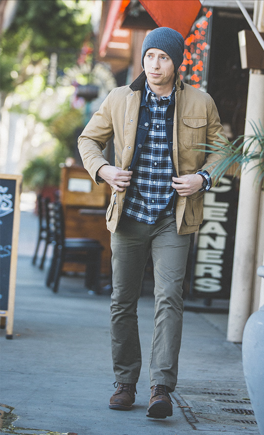 Fall Casual Style - Layered Outerwear - Field Jacket Trucker Jacket Chinos