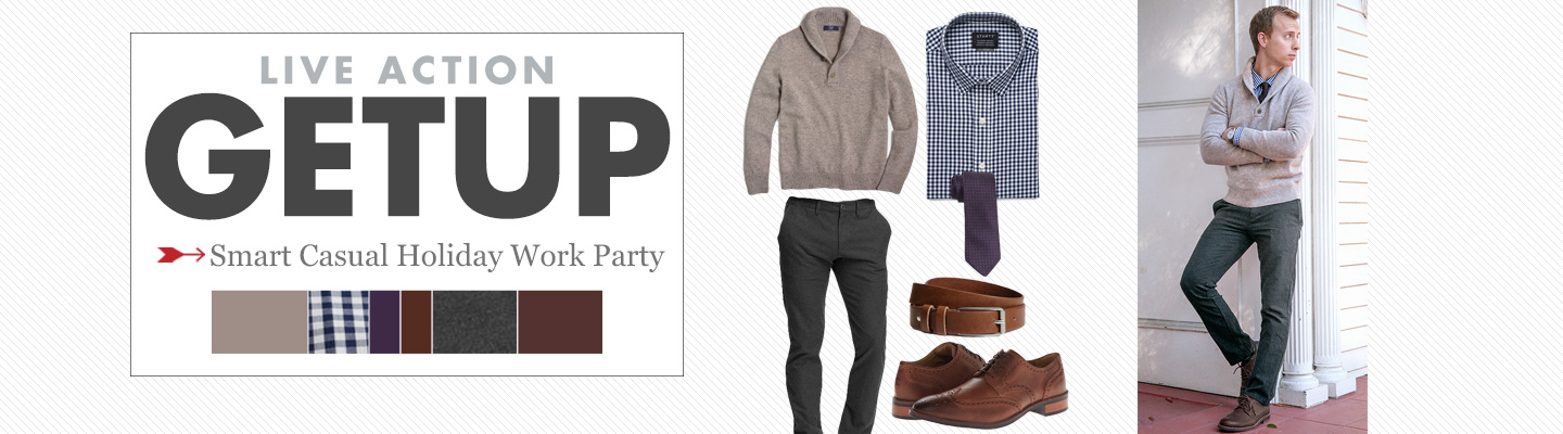 Live Action Getup: Smart Casual Holiday Work Party