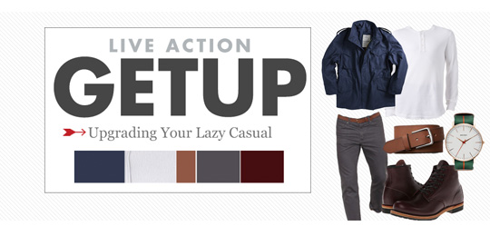 Live Action Getup: Upgrading Your Lazy Casual