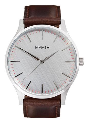 MVMT watch with brown strap