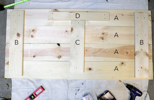 Ideal DIY Wood Headboard