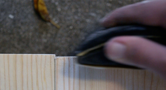 Sanding edges