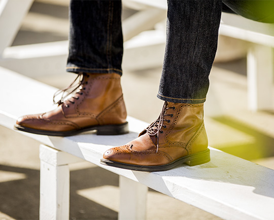 Stafford Deacon Wingtip Boots