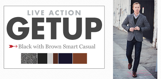 Live Action Getup: Black with Brown Smart Casual