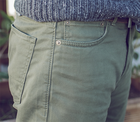 Five pocket twill pant