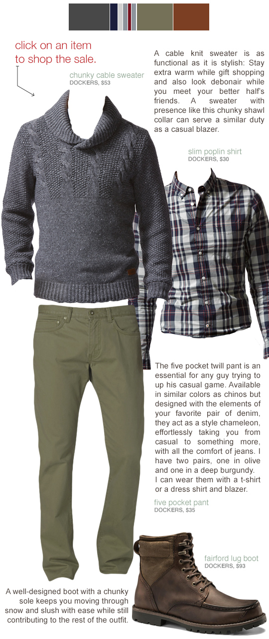 Men's casual winter outfit