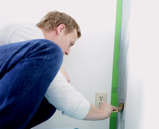 Cutting in - painting an accent wall