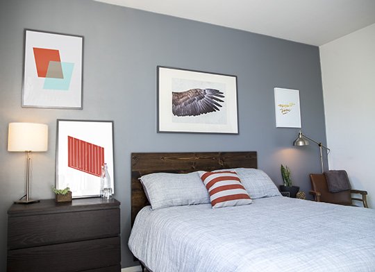 DIY Accent Wall. Bedroom Accent Wall