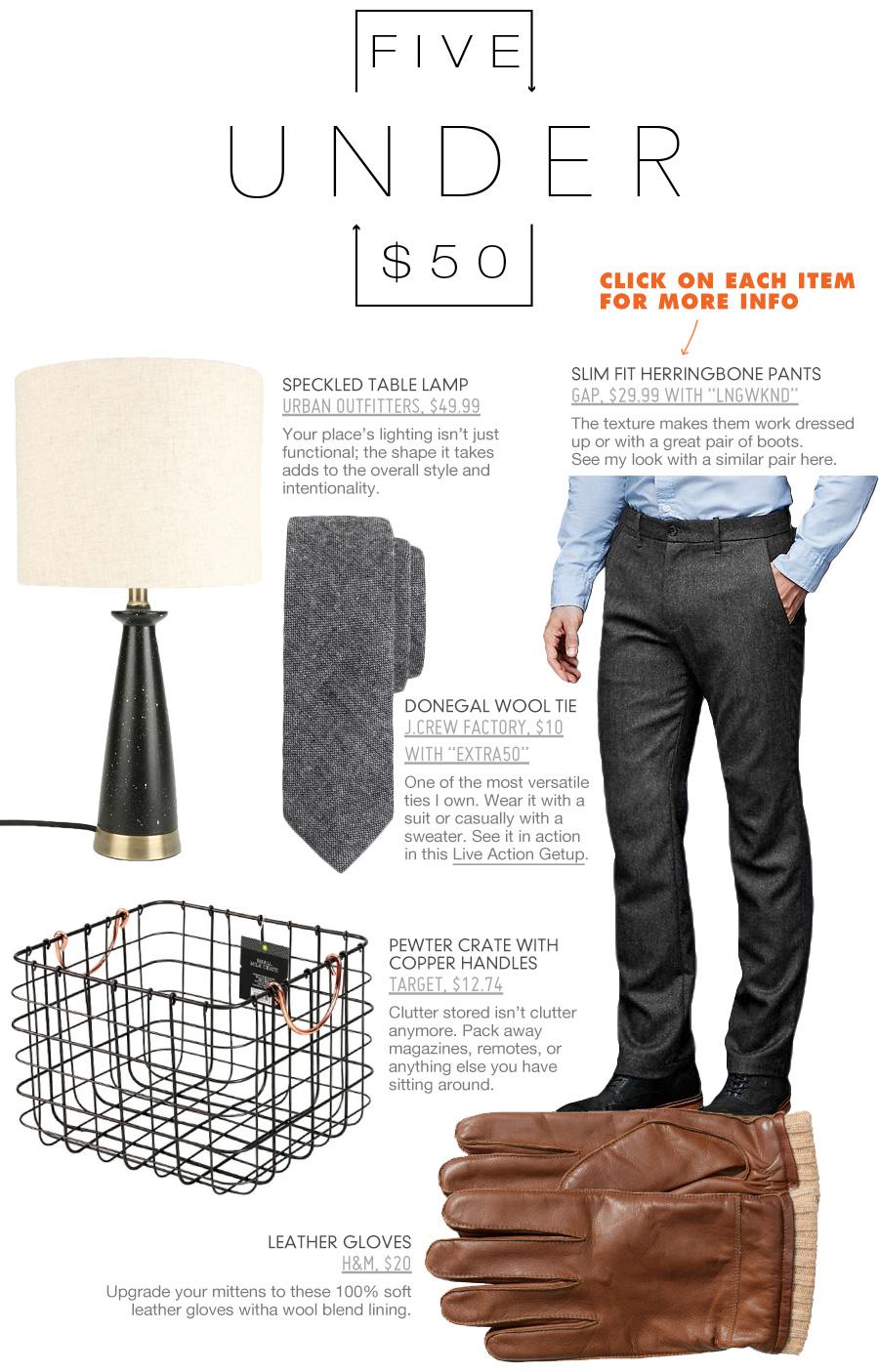 5 Under $50 Men's Clothing Deals