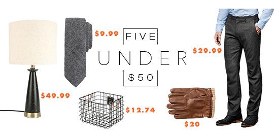 5 Under $50 – 1/17/16