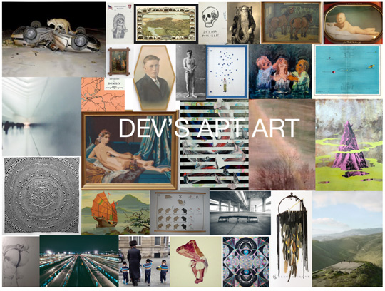 Mood board collage for Dev\'s art