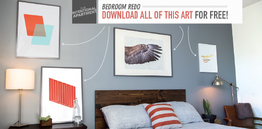 A room featuring free art to download