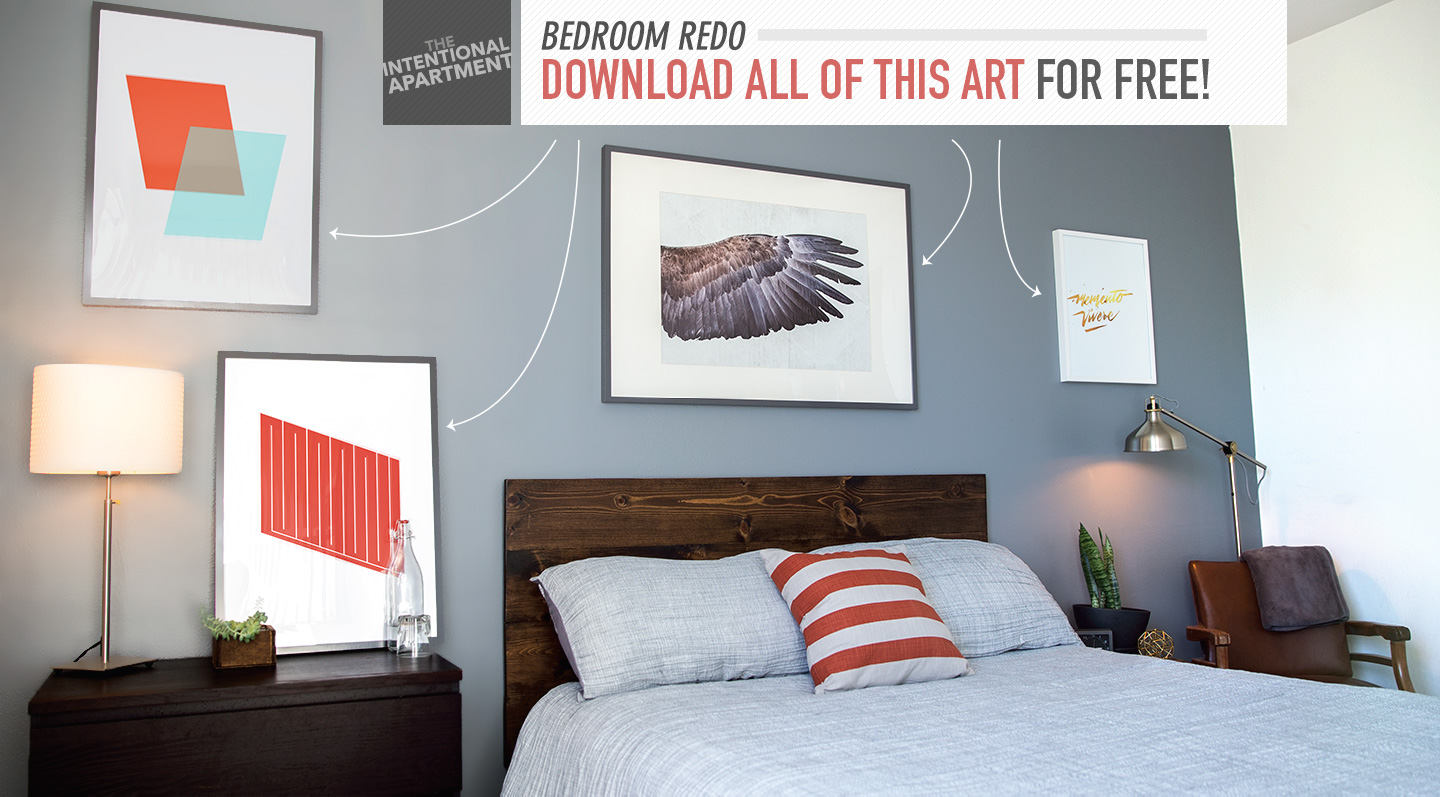 Bedroom Redo: Download All of this Art for Free!
