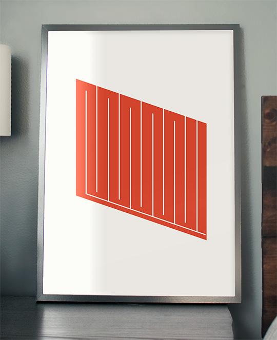 free minimalist mid-century art printable