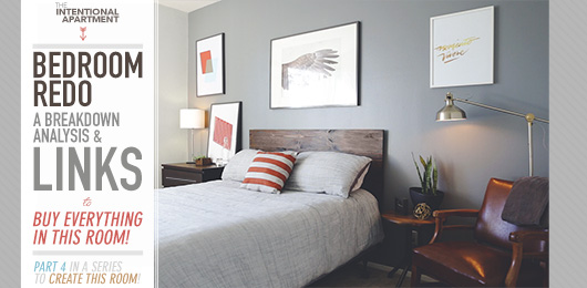 A gray bedroom