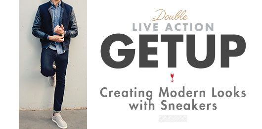 Double Live Action Getup - Creating modern outfits with sneakers