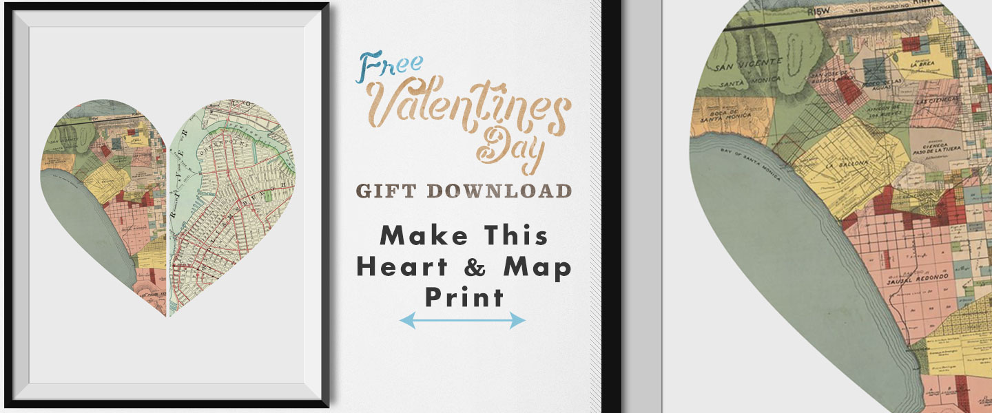 Free Valentine's Day Gift Download: Make This Heart & Map Print!