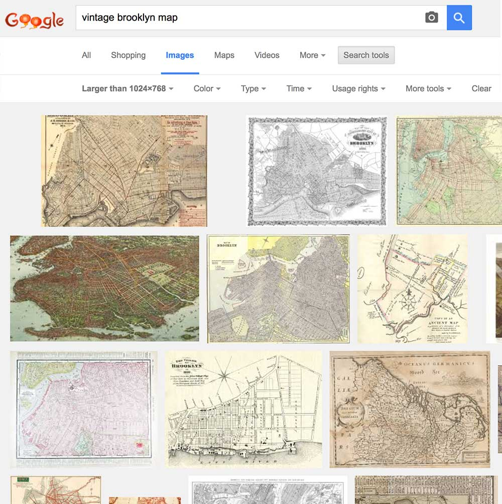 Google Image Search - Large Vintage Maps
