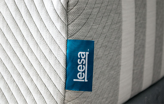 Leesa mattress label