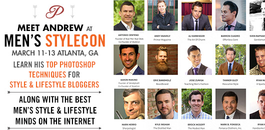 Meet Andrew at Men's StyleCon in March!