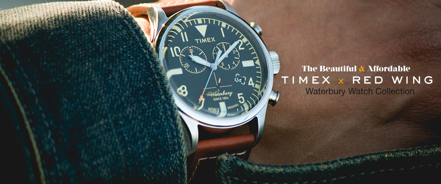 The Beautiful & Affordable Timex x Redwing Waterbury Watch Collection