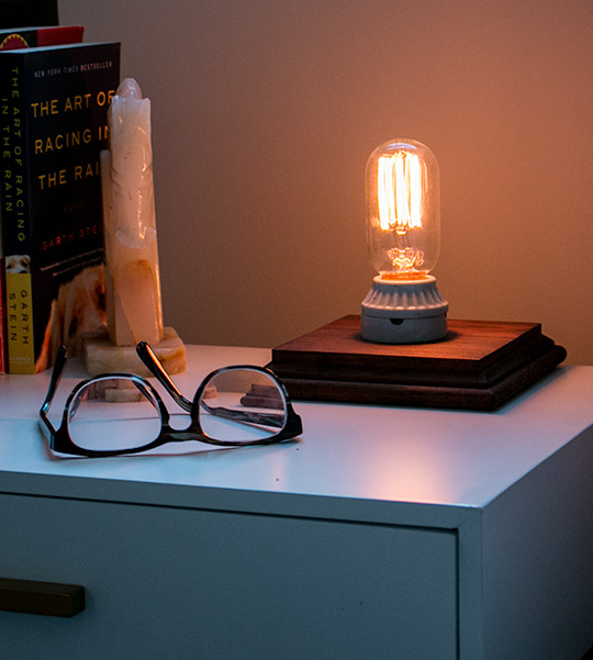 DIY Industrial Side Table Lamp