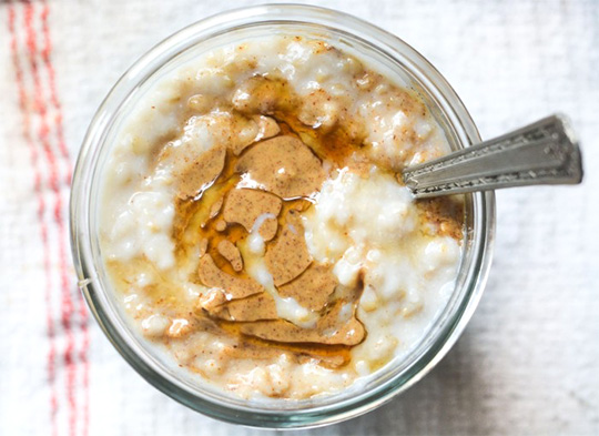 oatmeal with almond butter