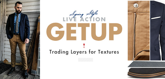 Live Action Getup: Trading Layers for Textures