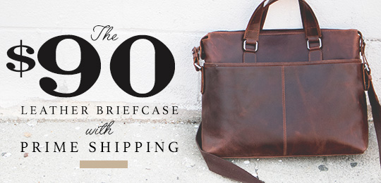 The $90 Leather Briefcase with Prime Shipping