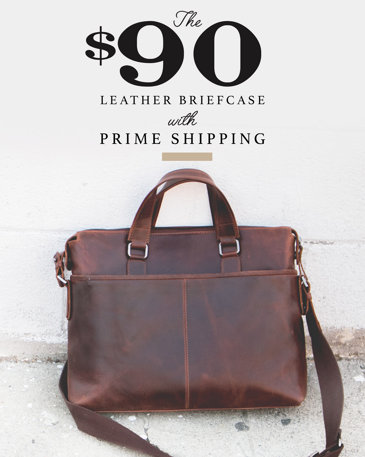 Affordable leather briefcase