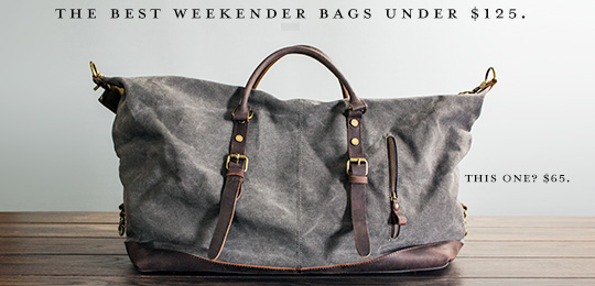 best weekender bags under $125
