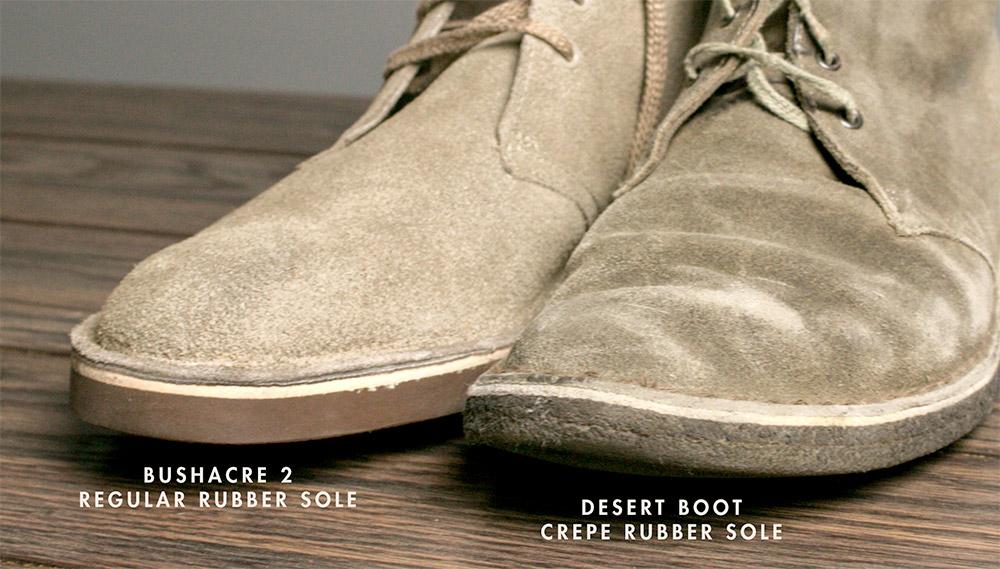 Desert boot vs Bushacre 2 - Crepe Sole Rubber Sole