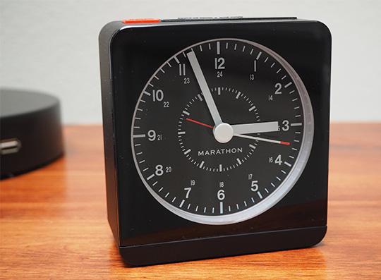 Marathon alarm clock