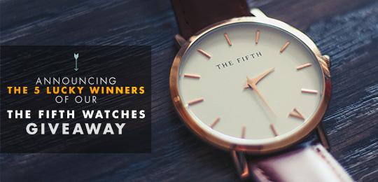 Announcing the 5 Winners of Our The Fifth Watches Giveaway