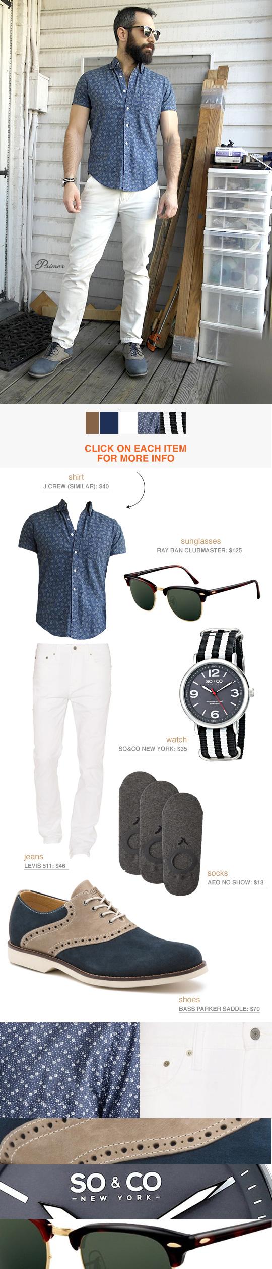 Men's White Jeans Inspiration