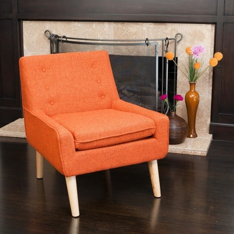 midcentury modern tufted armchair