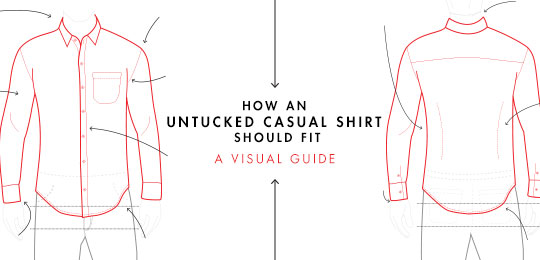 How an untucked casual shirt should fit header image