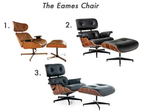 Examples of The Eames Chair