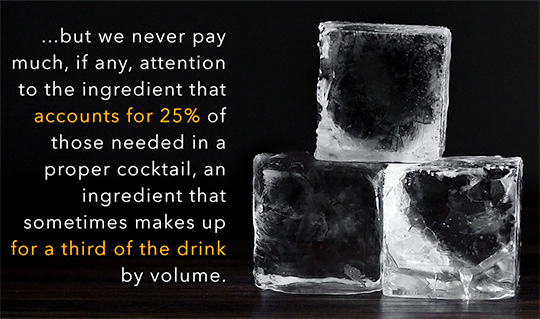 ice by volume in cocktail